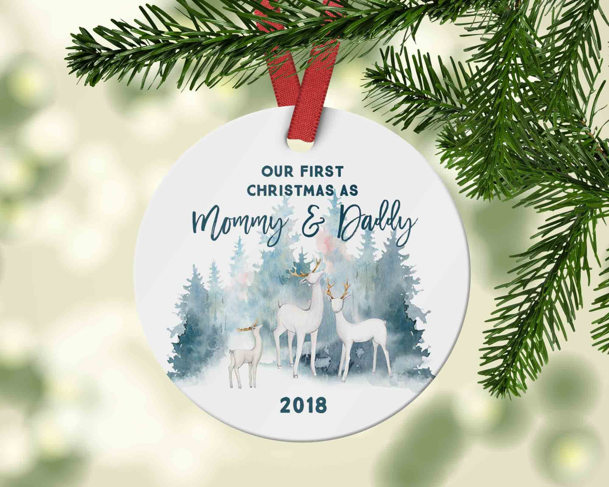 Our First Christmas as Mommy and Daddy 2018 - Ornament