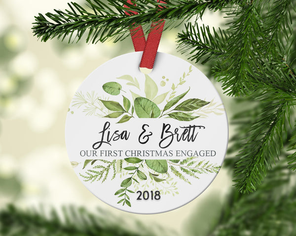 Our First Engaged Ornament -  Custom First Christmas Together - Ornament