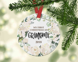 Gift for Grandma Christmas Ornament - My first Christmas as Grandma - Ornament