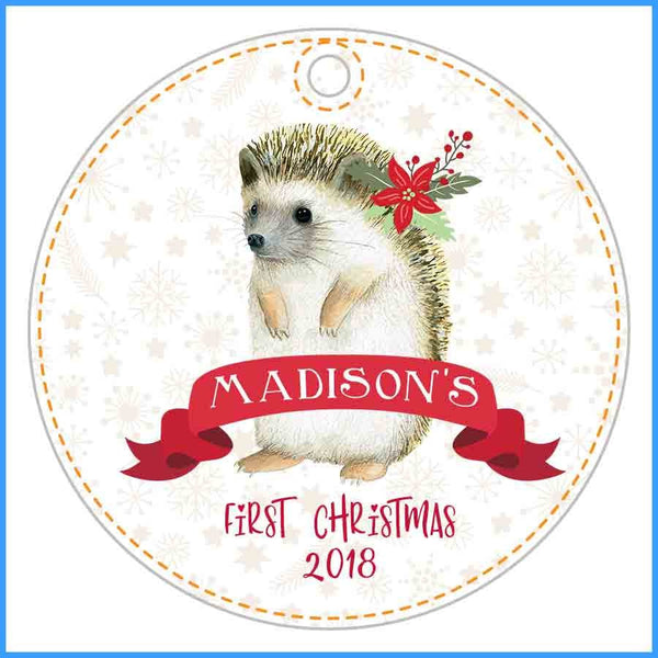 Custom Hedgehog Ornament for Kid 2018 with name - Ornament