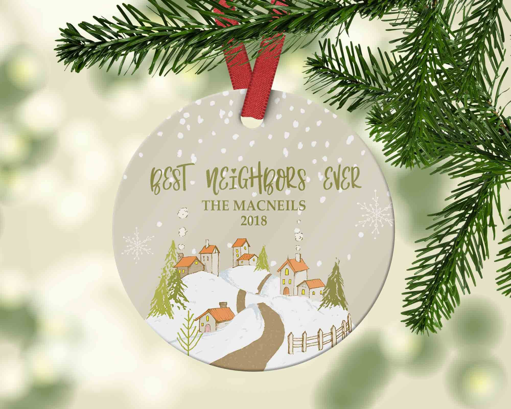Best Neighbours Ever Christmas Ornament - Moving or Housewarming Gift - Ornament