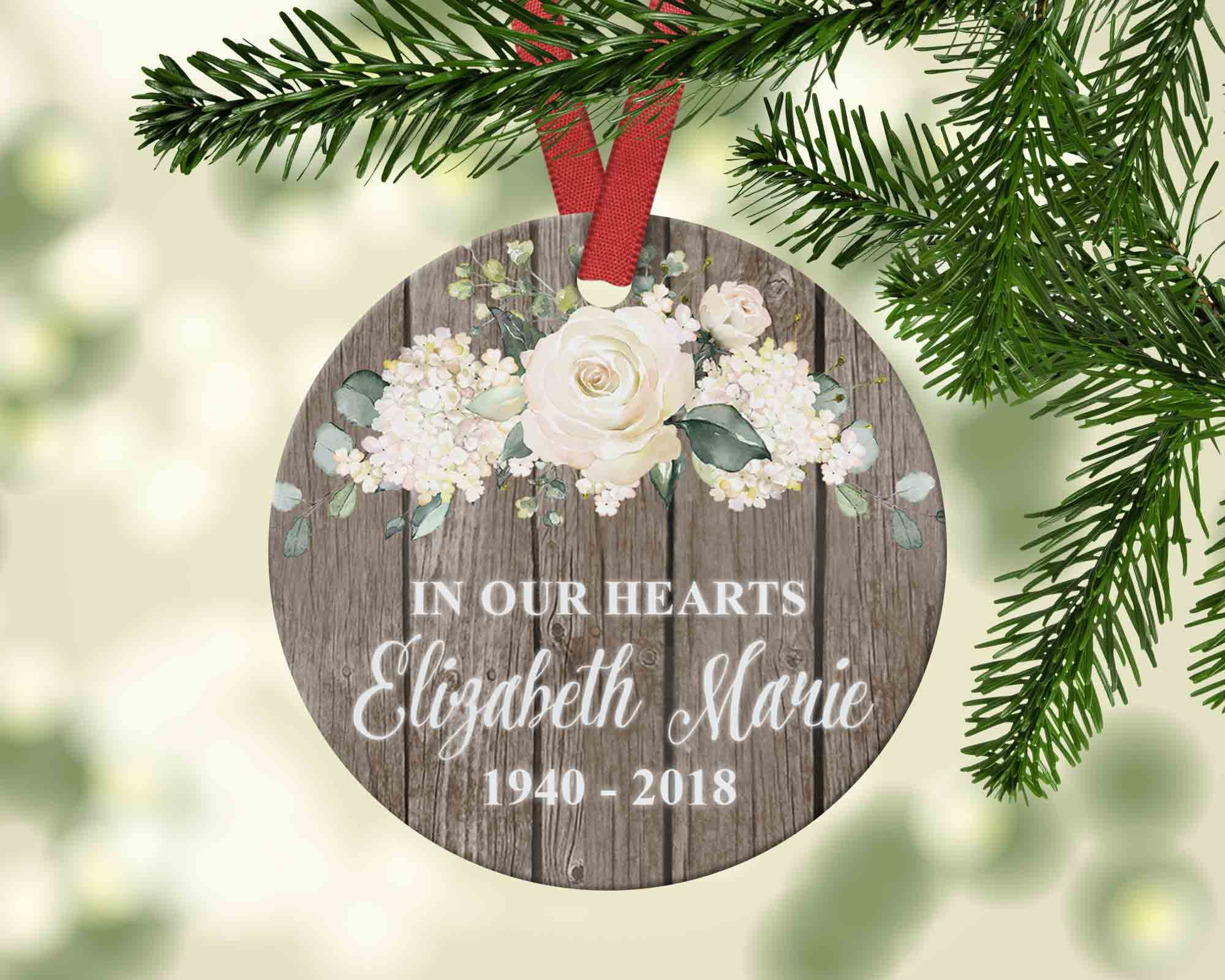 "Personalized ""In Memory of"" Christmas Ornament - Bereavement, Memorial or  Sympathy Gift - Ornament"