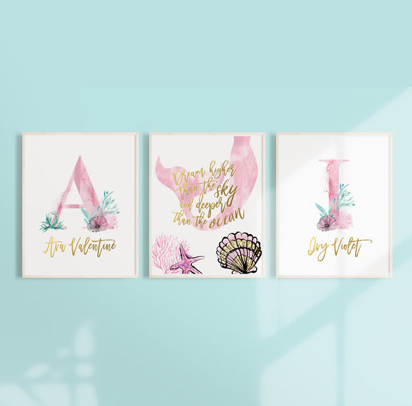 Mermaid Nursery Wall Art - Perfect for Twin Sister