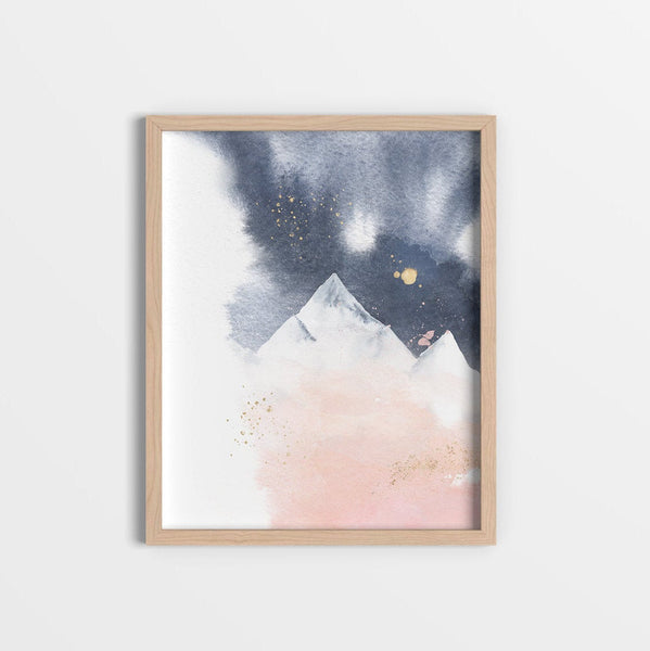 Modern Abstract Mountain Wall Art
