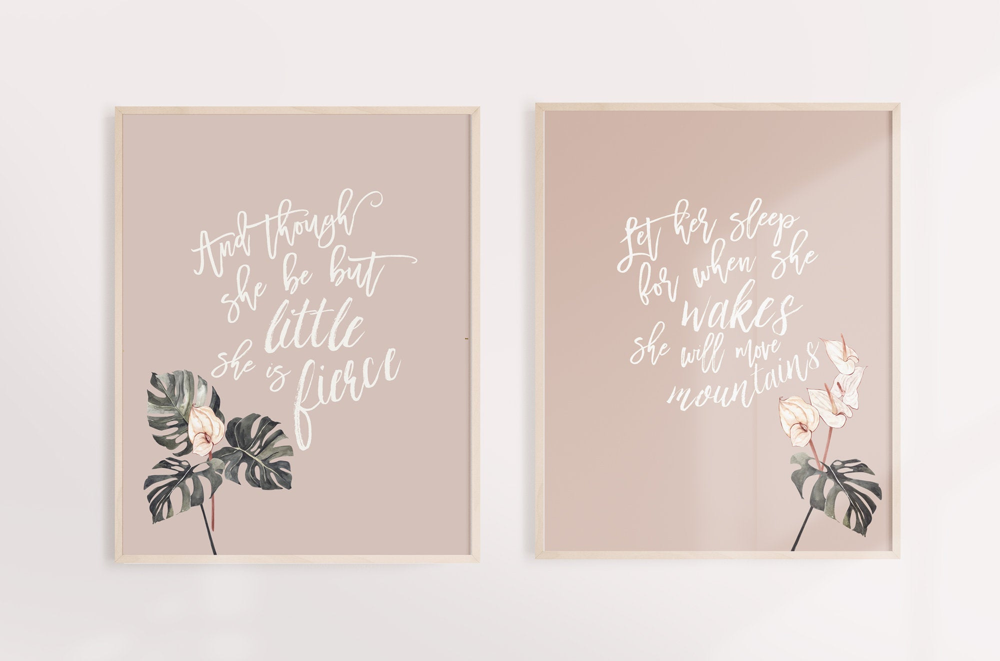 Taupe Nursery Girl Wall Art
