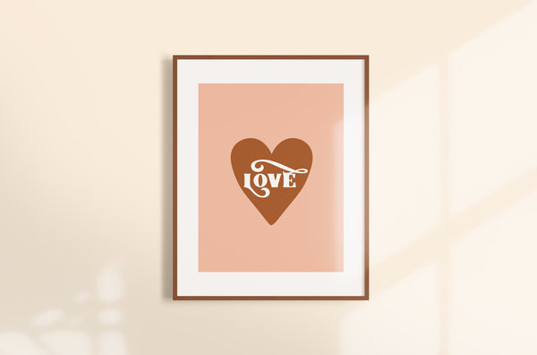 Love Modern Earthy Orange Art