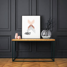 Load image into Gallery viewer, Geometric Art Print in Copper Pink and Marble