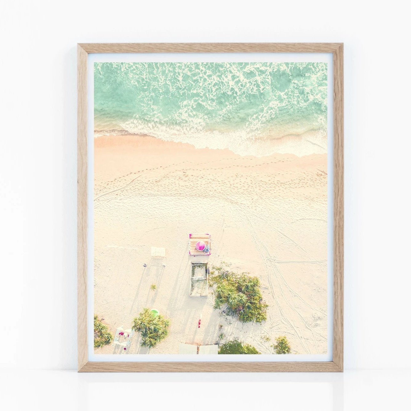 Ariel Beach Wall Art Poster