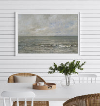 Load image into Gallery viewer, Rough Water and Sky Vintage Coastal Wall Art Farmhouse Oil Painting Replica