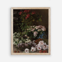 Load image into Gallery viewer, Dark Floral Vintage Wall Art - Modern Farmhouse Bedroom Flowers Wall Prints - Printed and Shipped Reproduction -