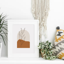 Load image into Gallery viewer, Boho Archway Art - Boho Art Print - Taupe Wall Art - Neutral Beige Earthy Prints - Large artwork