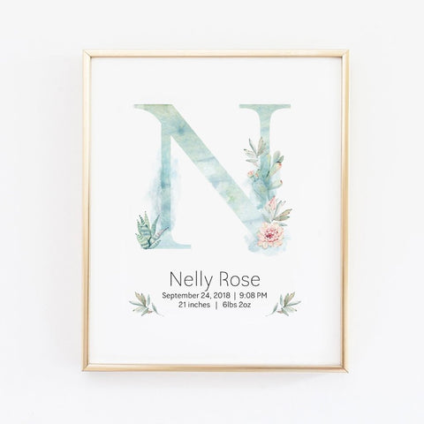 nursery name decor