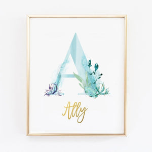 nursery name decor, baby name print