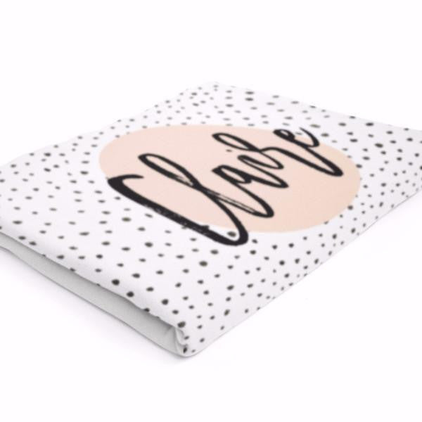 Wall and Wonder Bedding Personalized Baby Blanket - Modern Dots