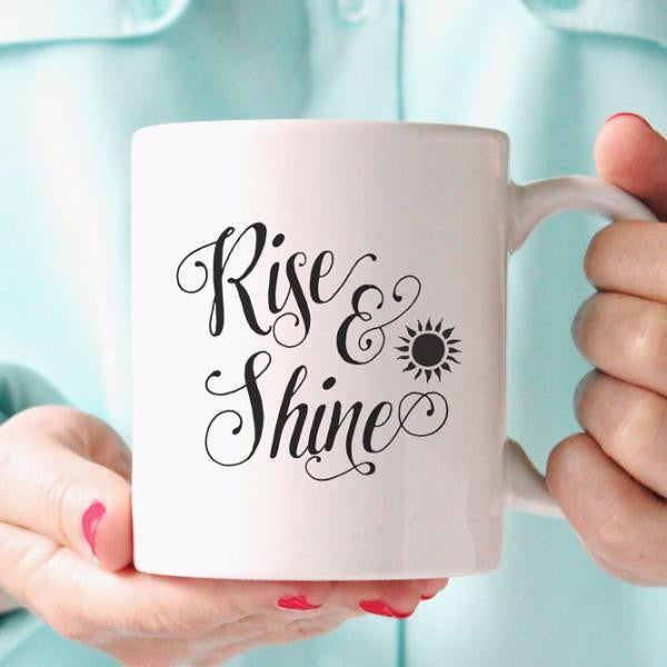 Wall and Wonder Mugs Rise and Shine Coffee Mug