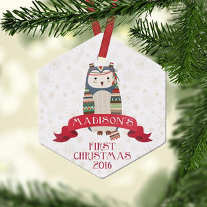 Wall and Wonder Ornament Owl Baby's First Ornament