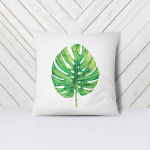 Wall and Wonder Pillow Monstera Leaf Pillow Cover Decorative Throw Pillow