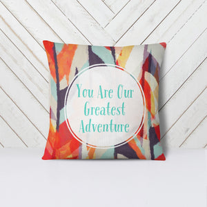 Wall and Wonder Pillow Woodlands Aztec Adventure  Throw Pillow