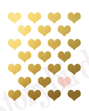 Load image into Gallery viewer, Wall and Wonder Wall Prints Blush Pink Gold Hearts -  Faux Gold Foil Wall Art