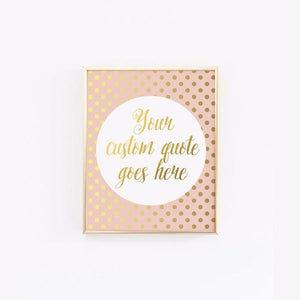 Wall and Wonder Wall Prints Blush Wall Print - Customized Faux Gold Foil Print