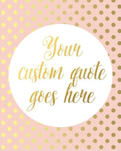 Load image into Gallery viewer, Wall and Wonder Wall Prints Blush Wall Print - Customized Faux Gold Foil Print