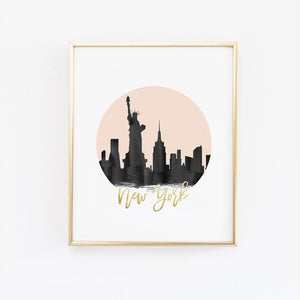 Wall and Wonder Wall Prints City Skyline Wall Art