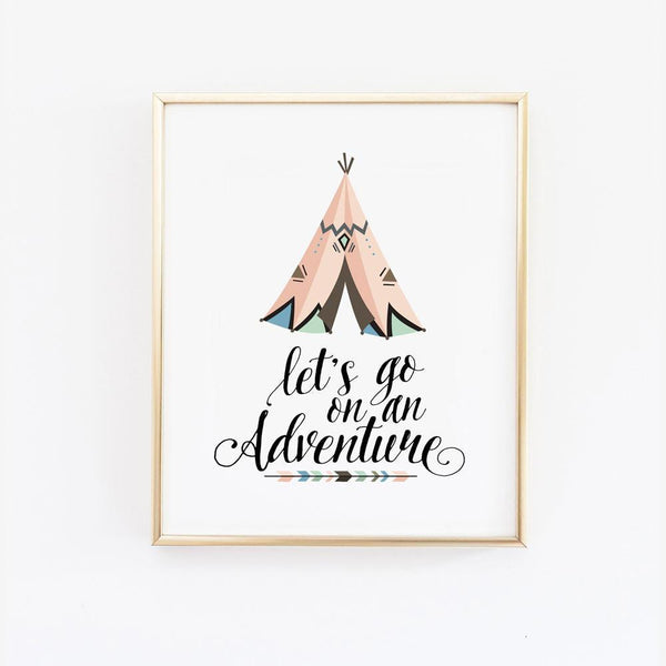 Wall and Wonder Wall Prints Let's go on an adventure - Wall Print
