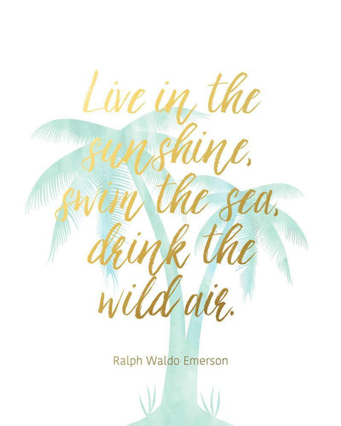 Wall and Wonder Wall Prints Live in the sunshine - Emerson Quote