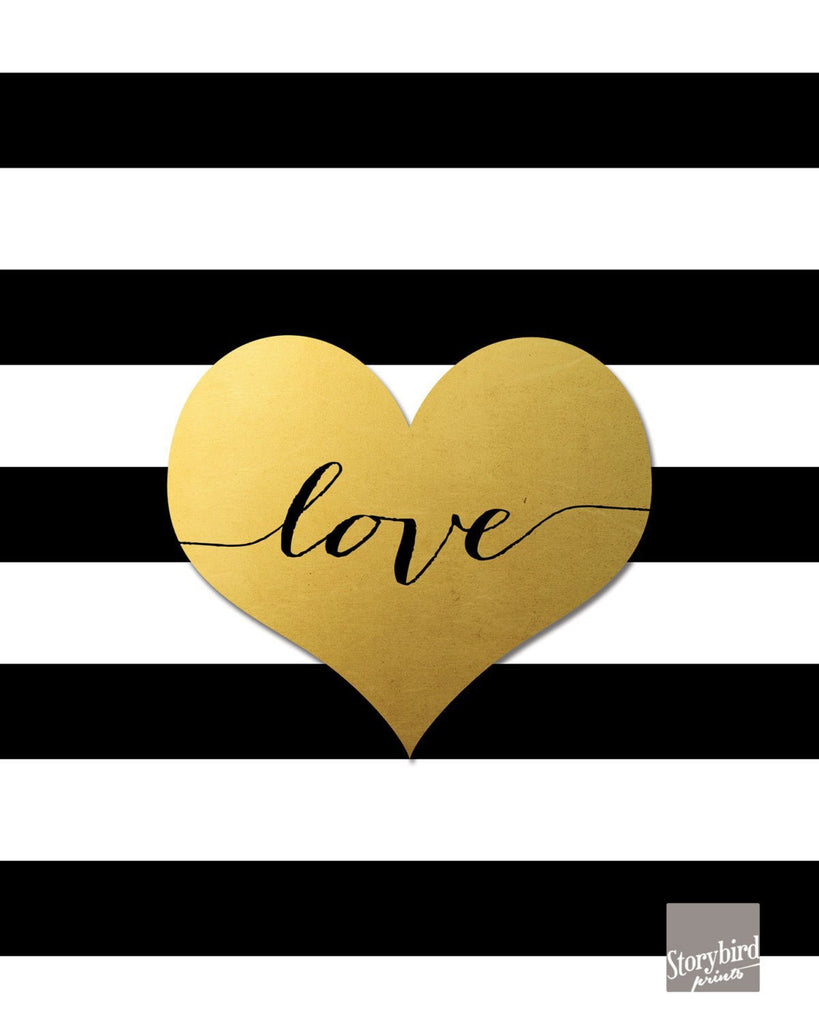 Love Black and White Stripes Wall Art
