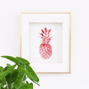 Wall and Wonder Wall Prints Pineapple in Pink - Wall Print