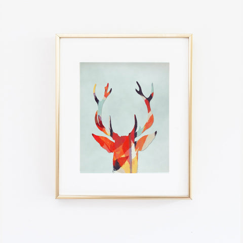 Wall and Wonder Wall Prints Woodlands Deer Wall Print