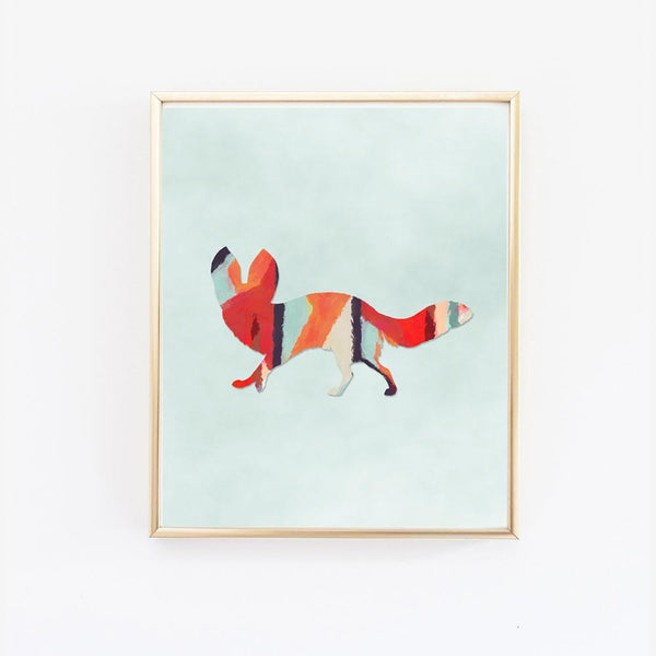 Wall and Wonder Wall Prints Woodlands Fox Wall Print