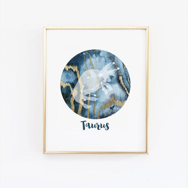 Wall and Wonder Wall Prints Zodiac Sign Wall Art