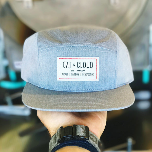 "Cat & Cloud ""3P"" Five Panel Cap"