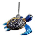 Sea Turtle Blue Ornament