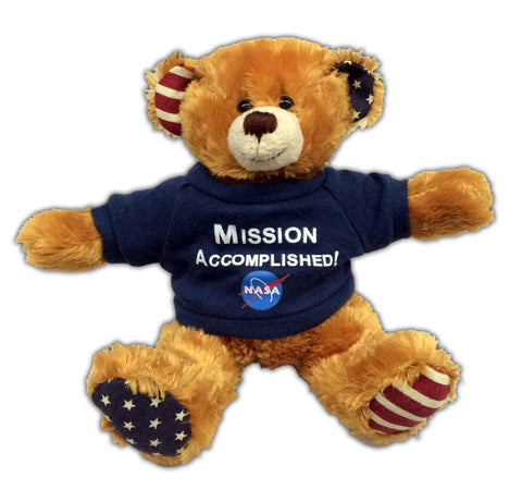 Mission Accomplished! NASA Plush Beanie Bear