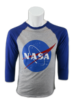 NASA 3/4 Sleeve Adult Shirt