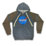 NASA Distressed Zip-Up Hoodie