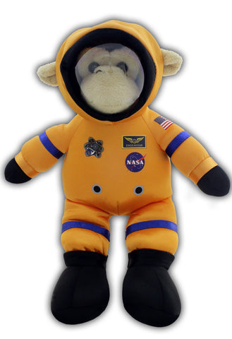 """ACES"" Orange Plush Space Monkey"