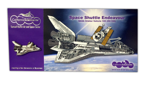 Endeavour Tech Pin/Postcard Combo