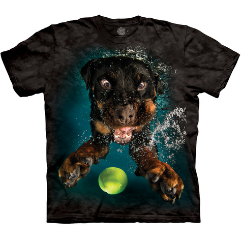 Under Water Rott Weiler Dog Shirt