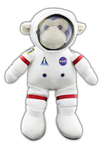 """EVA"" White Plush Space Monkey"