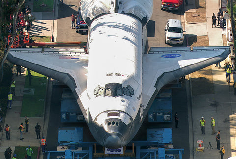 Endeavour's Tight Squeeze on Crenshaw drive Postcard