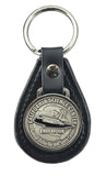 Endeavour Medallion Leather Keyring