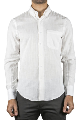 SLUB DOUBLE GAUZE REGULAR SHIRT - WHITE