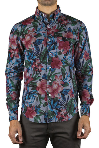 BIG TROPICAL REGULAR SHIRT - INDIGO