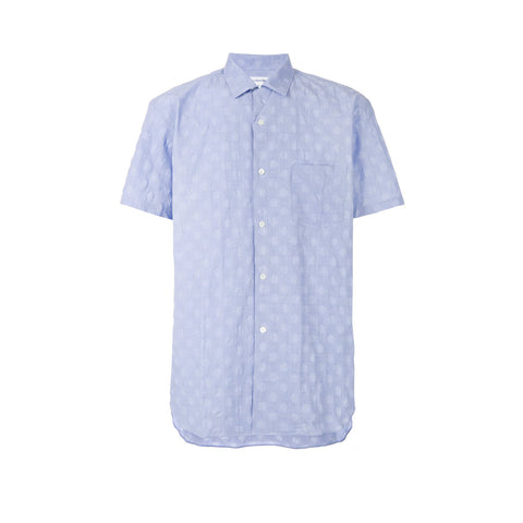 POLKA DOT WOVEN VACATION SHIRT - BLUE