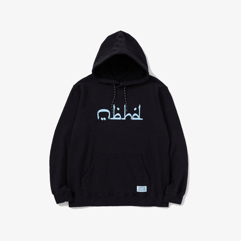 SLUB / C-HOODED . LS - BLACK