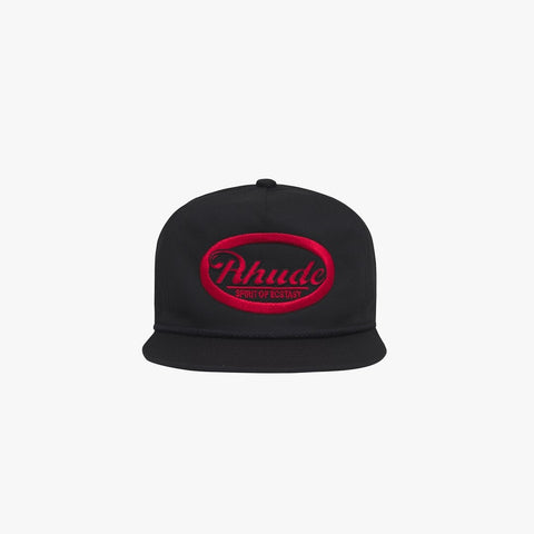 RHUDE DRAFT HAT - BLACK