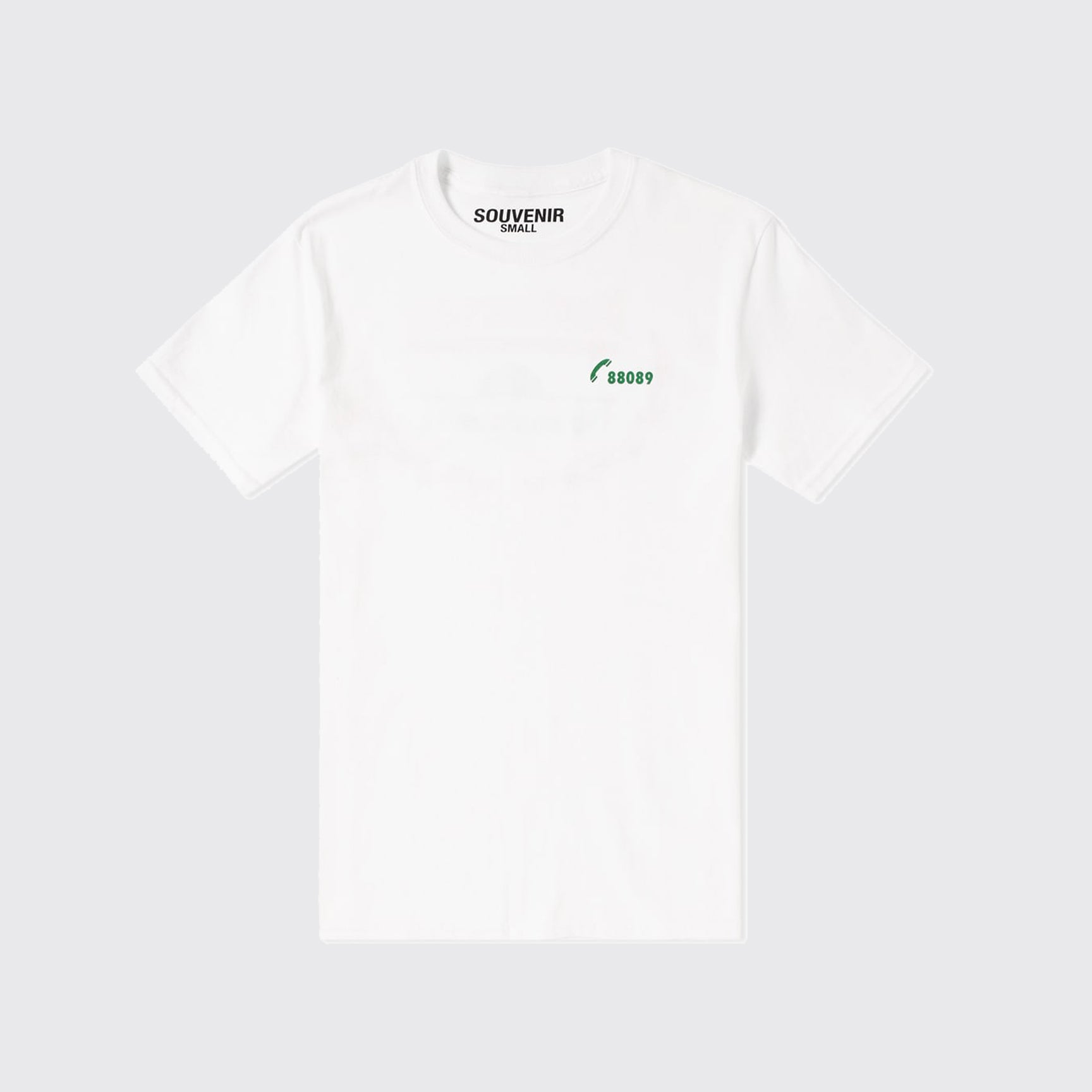 SOUVENIR TEE - WHITE/GREEN